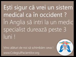 colegiul pacientilor sistemul medical romanesc are si lucruri bune